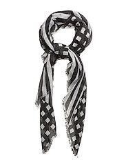 Stripes lightweight scarf - BLACK