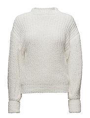 Puffed sleeves sweater - LIGHT BEIGE