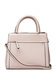 Saffiano-effect tote bag - LIGHT BEIGE