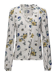 Ruffles printed blouse - NATURAL WHITE