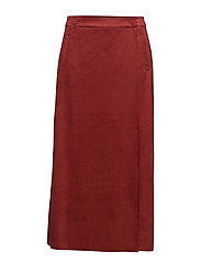 Midi wrap skirt - RED