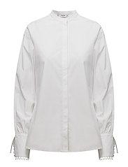 Mao collar shirt - WHITE