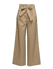 Paper bag trousers - MEDIUM BROWN