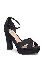 Platform strap sandals - BLACK