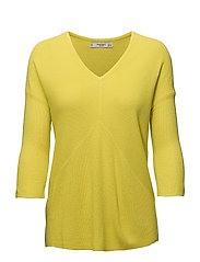Back vent sweater - BRIGHT YELLOW