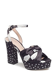 Dots heel sandals - BLACK