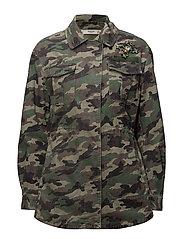 Camo-print jacket - BEIGE - KHAKI