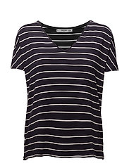 V-neckline essential t-shirt - NAVY