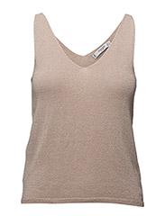 Metallic knit top - LT-PASTEL PINK