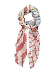 Check scarf - WHITE