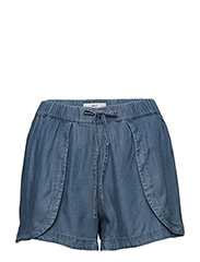 Soft fabric shorts - OPEN BLUE