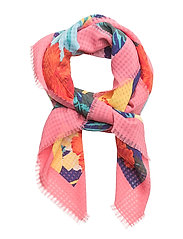 Floral print scarf - NAVY
