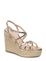 Wedge criss-cross sandals - GOLD