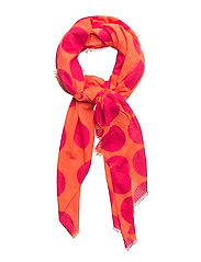Spots print scarf - ORANGE