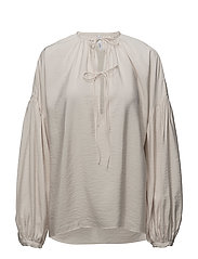 Puffed sleeves blouse - NATURAL WHITE