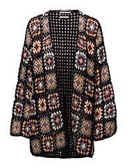 Cotton crochet cardigan - NAVY