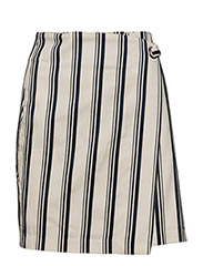 Striped wrap skirt - NAVY