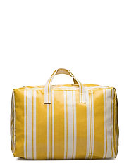 Striped shopper bag - YELLOW
