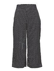 Printed crop trousers - NAVY