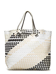 Braided shopper bag - BLACK