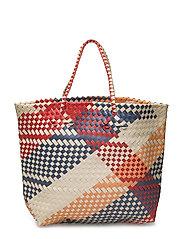 Braided shopper bag - LIGHT BEIGE