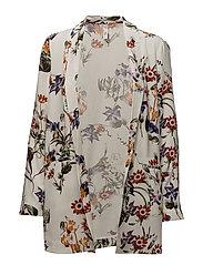 Floral print blazer - WHITE