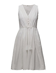 Embroidered panel dress - NATURAL WHITE