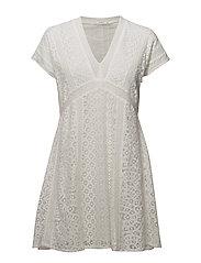 Lace short dress - LIGHT BEIGE