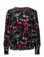 Floral print blouse - GREEN