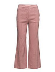 Straight linen-blend trousers - PINK