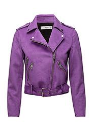 Zipped biker jacket - MEDIUM PURPLE