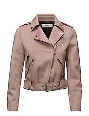 Zipped biker jacket - PINK