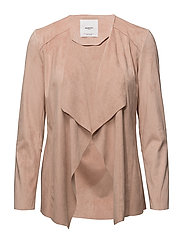 Waterfall faux suede jacket - LT-PASTEL PINK