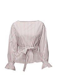 Striped bow blouse - PINK