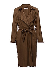 Soft finish trench - DARK BROWN
