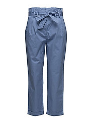 Bow belt trousers - MEDIUM BLUE