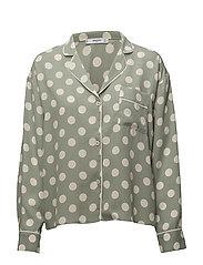 Polka-dot blouse - GREEN