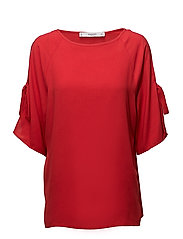 Lace flowy blouse - RED
