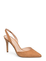 Slingback shoes - MEDIUM BROWN