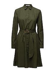 Belt shirt dress - BEIGE - KHAKI