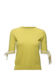 Decorative bows sweater - BRIGHT YELLOW