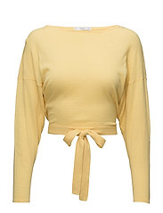 Bow wrapped sweater - YELLOW