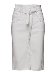 Knot denim skirt - WHITE