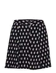 Flowy printed skirt - NAVY
