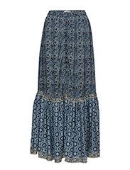 Ruffle printed skirt - NAVY