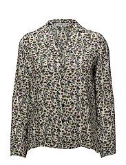 Buttoned flowy shirt - GREEN