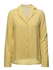 Buttoned flowy shirt - YELLOW