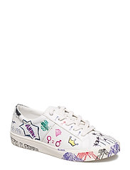 Doodles design sneakers - WHITE