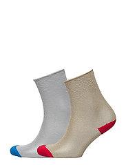 Metal thread socks - SILVER