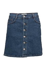 Buttoned denim skirt - OPEN BLUE